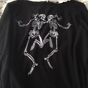 Wildfox Black Skeleton Sweater NEW WITH TAGS